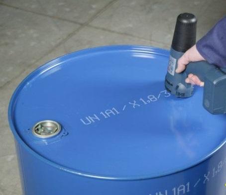油桶喷码机,水桶喷码就用手持喷码机